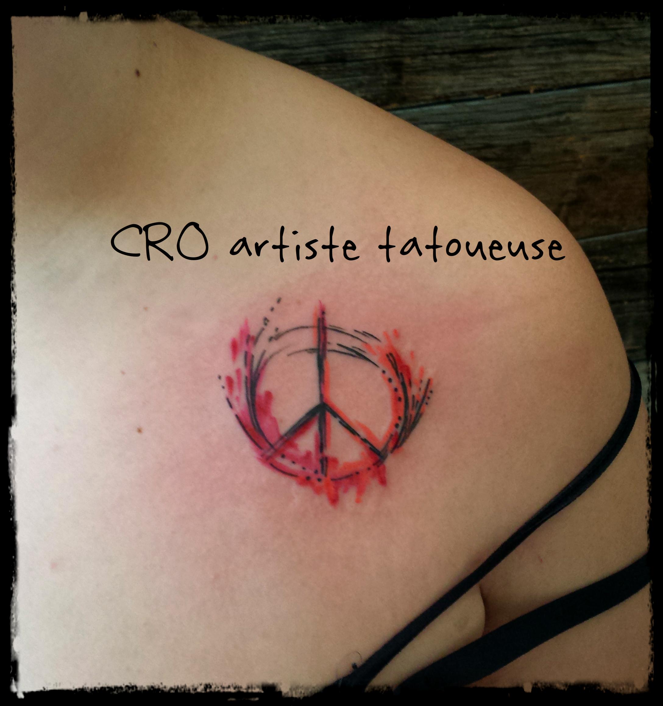 tattoo peace and love