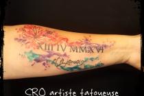 effet aquarelle sur tattoo existant