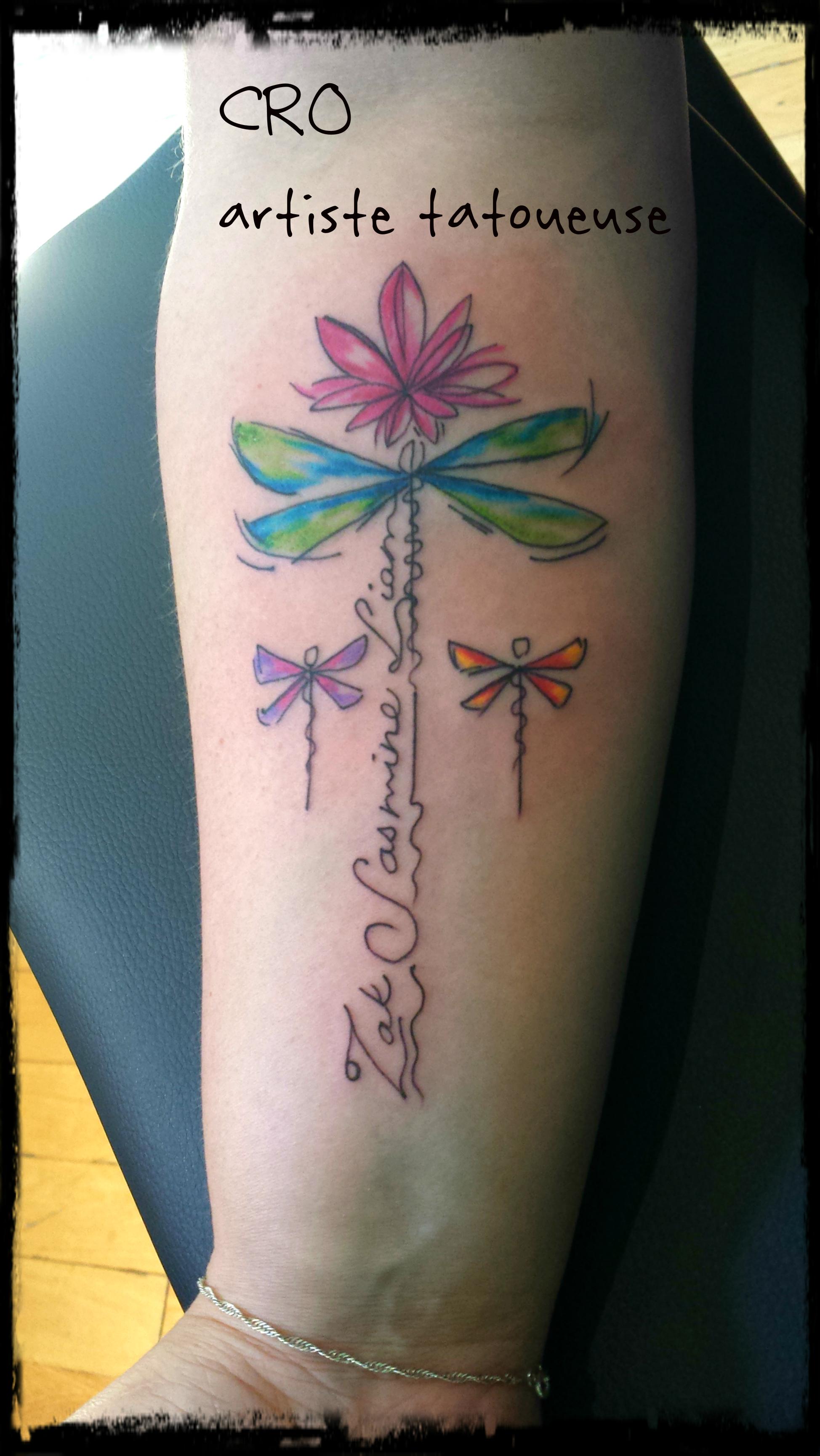tattoo lettrage, noms