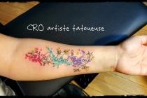 lettrage, tattoo aquarelle, watercolor tattoo