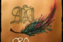 plume pour compléter tattoo existant
