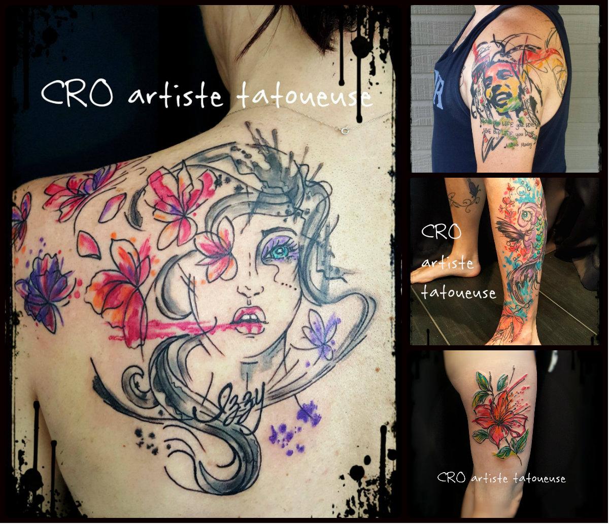 Tattoo Aquarelle Cro Artiste Tatoueuse
